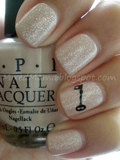 OPI Samoan Sand Glitter minus the key of course.maybe paint fourth finger red =) Love Nails, How To Do Nails, Pretty Nails, Fun Nails, Essie, Beauty Nails, Hair Beauty, Just In Case, Just For You