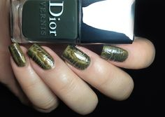 """Dior - Golden Jungle: """"consists of an almost foil gold with lots of sparkle and a khaki crocodile leather effect topcoat"""" [$30]"""