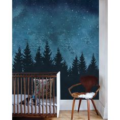 Forest Trees Night Scene Mural Marine Extra Large Wall Art Peel and Stick . - Forest Trees Night Scene Mural Navy Extra Large Wall Art Peel and Stick Wall Mural # design - Grand Art Mural, Mural Wall Art, Tree Wall Murals, Nursery Wall Murals, Painted Wall Murals, Painting Murals On Walls, Nursery Art, Nursery Ideas, Wall Art Wallpaper
