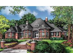 Home Plan HOMEPW75292 - 2812 Square Foot, 4 Bedroom 3 Bathroom European Home with 2 Garage Bays | Homeplans.com