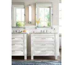 Maxfield Single Sink Console White Chrome Knob Finish Knobs
