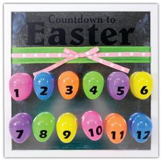 Countdown To Easter Frame project from @Crafts Direct. More info about this project on our blog here: http://www.craftsdirect.blogspot.com/2014/04/win-it-wednedsay-easter-countdown.html