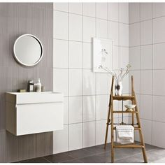 Brooklyn Linea White Ceramic Wall Tile - Collect In Store