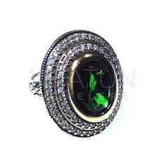 Vintage  Style Turkish Silver Sultana 925 Sterling Silver  Emerald Jade Rings #GrandBazaarJewelers #Statement #Birthday