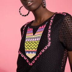 Now on eboutic. Green Spring Dresses, Red Indian, Indian Patterns, Pink Flowers, Crochet Top, Purple, My Style, Sweaters, Shirts