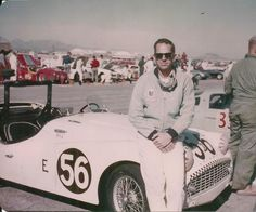 Triumph Racing Driver Kas Kastner, Palm Springs 1958