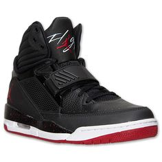 Men's Jordan Flight 97 Basketball Shoes  | Finish Line | Black/White/Gym Red
