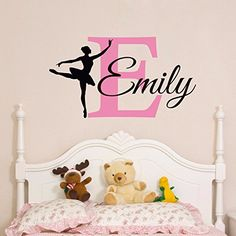 Charmingly Personalized Name Ballerina Custom Baby Girls Wall Sticker Home Wall Decals Girls Bedroom Wall Vinyl Art Nursery Decor-you choose name and color. 1.Finished size (after being put upon the wall):Finished size:Around 40x70cm=16x28inch . Size will vary differently according to the way you arrange; 2. Refer to the Color Chart in product's description; (default color: blush initial, coffee color name and black dancer ); Real colors may be slightly different than what you see in...