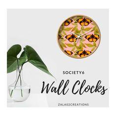 Butterfly Wall Clocks on Society6