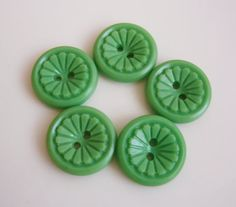 vintage buttons..love the green color!