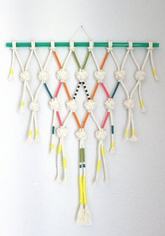 """Macrame Wall Hanging """"Diamond collection no.5"""" by HIMO ART, One of a kind Handcrafted Macrame/Rope art"""