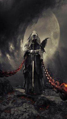 Ideas Fantasy Art Dark Horror For 2019 Dark Fantasy Art, Fantasy Kunst, Fantasy Artwork, Arte Horror, Horror Art, Grim Reaper Art, Grim Reaper Tattoo, Arte Obscura, Warrior Angel