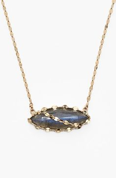 Lana Jewelry 'Ultra' Labradorite Marquise Pendant Necklace available at #Nordstrom