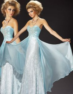 ice blue dress