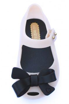 Mini Melissa Shoes Ultragirl Bow Mary Jane, Pink & Black