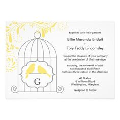 ShoppingYellow Gray Love Birdcage Wedding Monogram InviteWe provide you all shopping site and all informations in our go to store link. You will see low prices on