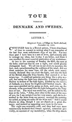Travels Through Denmark and Part of Sweden, During the Winter & Spring of the Year 1809
