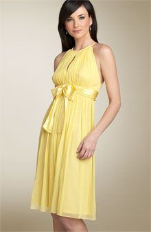 Bridesmaid dress comes in many colors and designs. Yellow bridesmaid dresses are mostly favorite. Strapless yellow bridesmaid dress is one favorite. Yellow Wedding Dress, Yellow Dress, Wedding Dresses, Yellow Bridesmaid Dresses, Bridesmaids And Groomsmen, Wedding Bridesmaids, Couture, Silk Chiffon, Bridal Gowns
