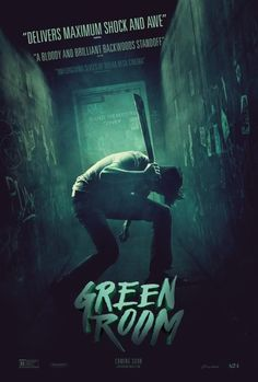 GREEN ROOM is a brilliantly crafted and wickedly fun horror-thriller starring Patrick Stewart as a diabolical club owner who squares off against an unsuspecting but resilient young punk band. Down on their luck punk rockers The Ain't Rights are finishing