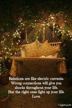 Relations are like electric currents. Wrong connections will give you shocks throughout your life. But the right ones light up your life. Love. #SqdnLdr
