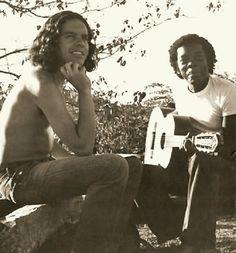 Fernando Brant e Milton Nascimento em Belo Horizonte, em 1970.  Veja mais em: http://semioticas1.blogspot.com.br/2012/03/o-clube-da-esquina.html