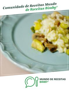 Risotto de Espargos e Cogumelos Portobello de andreiacalisto. Receita Bimby<sup>®</sup> na categoria Pratos principais vegetariano do www.mundodereceitasbimby.com.pt, A Comunidade de Receitas Bimby<sup>®</sup>.