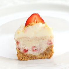 Cheesecake/Strawberry Cupcake--the cream cheese is the frosting.  Bet this is one awesome bite.