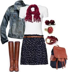 """There's a cute boy in class outfit"" by cmaes03 on Polyvore"