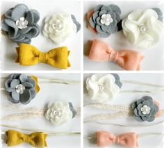 $5.99 Spring Felt Hair Clip/Headband Set - 4 Options to Choose From! at VeryJane.com. My friend @Jennifer Romero makes/sells these. She's so talented and this is a GREAT deal.