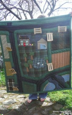Quilted Farm Play Mat http://wonkypatchwork.blogspot.co.uk/