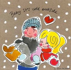 Baby it's cold outside - love in snow