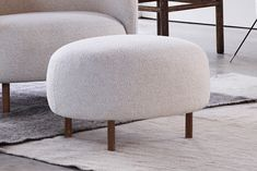 Livingetc Small Footstool   Hepworth   Love Your Home Small Footstool, Ottoman Footstool, Upholstered Ottoman, Oak Stain, Love Your Home, Gray Sofa, Furniture Collection, Armchair, New Homes