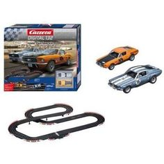 Carrera 20030194 Ford Fastbacks Starter Set with Ford Mustang GT No 49 and 16 Cars, Assorted