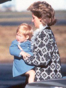September 14 1986 Diana arrives back from Scotland with the boys