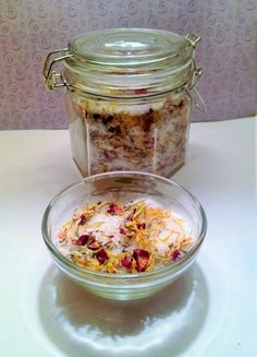 Herbal Bath Salts, Floral Bathing Salts, Lavender Calendula & Rose Petal Bath Soak, Botanical Bath Salts, All Natural Bath, Gifts For Her by MissZoesPlace on Etsy https://www.etsy.com/listing/555724429/herbal-bath-salts-floral-bathing-salts