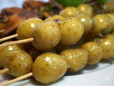 Grillad potatis på spett