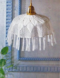 Crochet lampshade - Free Diagram Pattern