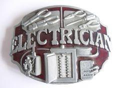 Electricians Belt Buckle- Tools - Trade - Belts & Buckles - Buckles for belts
