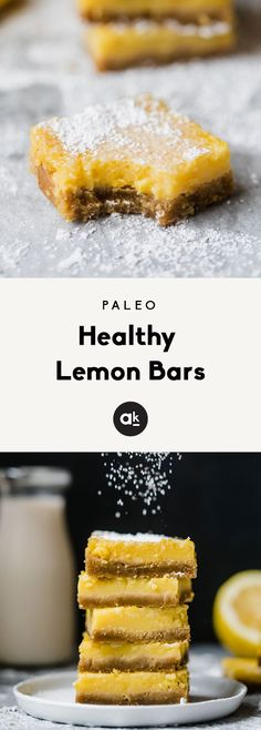 Healthy lemon bars t