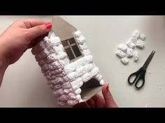 Christmas Tree Village Display, Recycled Bottle Crafts, Fairy House Crafts, Garden Furniture Design, Clay Wall Art, Diy Crafts For Home Decor, Cement Crafts, Glitter Houses, Cardboard Crafts