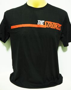 95cee987 The Strokes American indie punk rock band music black t shirt size S,M,