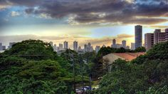 This is the view from the University of Hawaii--Manoa campus where I received a BBA degree. Paradise it was!