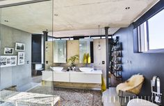 9 best DIY room dividers for South African homes Modern Bathroom, Glass Bathroom, South African Homes, Diy Room Divider, Build A Wall, Concrete Wall, Kitchen Decor, Furniture, Bathrooms