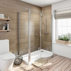 Fitting snugly in the corner of your room, quadrant shower enclosures are great at saving on space. Discover our quality range of quadrant shower cubicles. Compact Bathroom, Small Bathroom, Quadrant Shower Enclosures, Modern Bathroom Decor, Bathroom Ideas, Bathroom Designs, Espace Design, Shower Fittings, Shower Cubicles