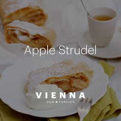 In Vienna there is disagreement as to whether the filling of apple strudel should be prepared with o Apple Recipes, Gourmet Recipes, Dessert Recipes, Apfelstrudel Recipe, Yummy Treats, Yummy Food, Austrian Recipes, Galette, Mango