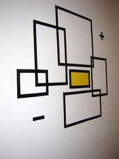 Afbeeldingsresultaat voor masking tape wall art