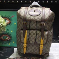 dfcb6678934 Gucci 473869 Soft GG Supreme Backpack 2017 · Designer Bags ...