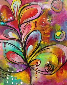 lovely mixed media painting