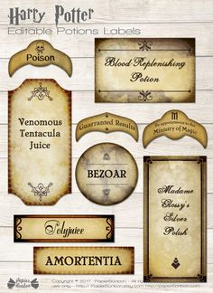 Etiquettes potions Harry Potter – editable labels Etiquettes potions Harry Potter – editable labels This image has get. Harry Potter Parties, Harry Potter Halloween, Cosplay Harry Potter, Harry Potter Fiesta, Harry Potter Thema, Cumpleaños Harry Potter, Mundo Harry Potter, Harry Potter Wedding, Harry Potter Birthday