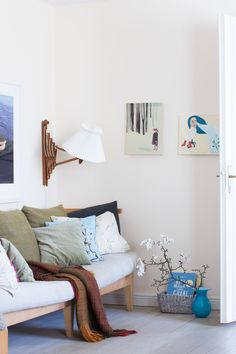A calm corner in my friend Louise's home in a converted school  my Scandinavian home blog